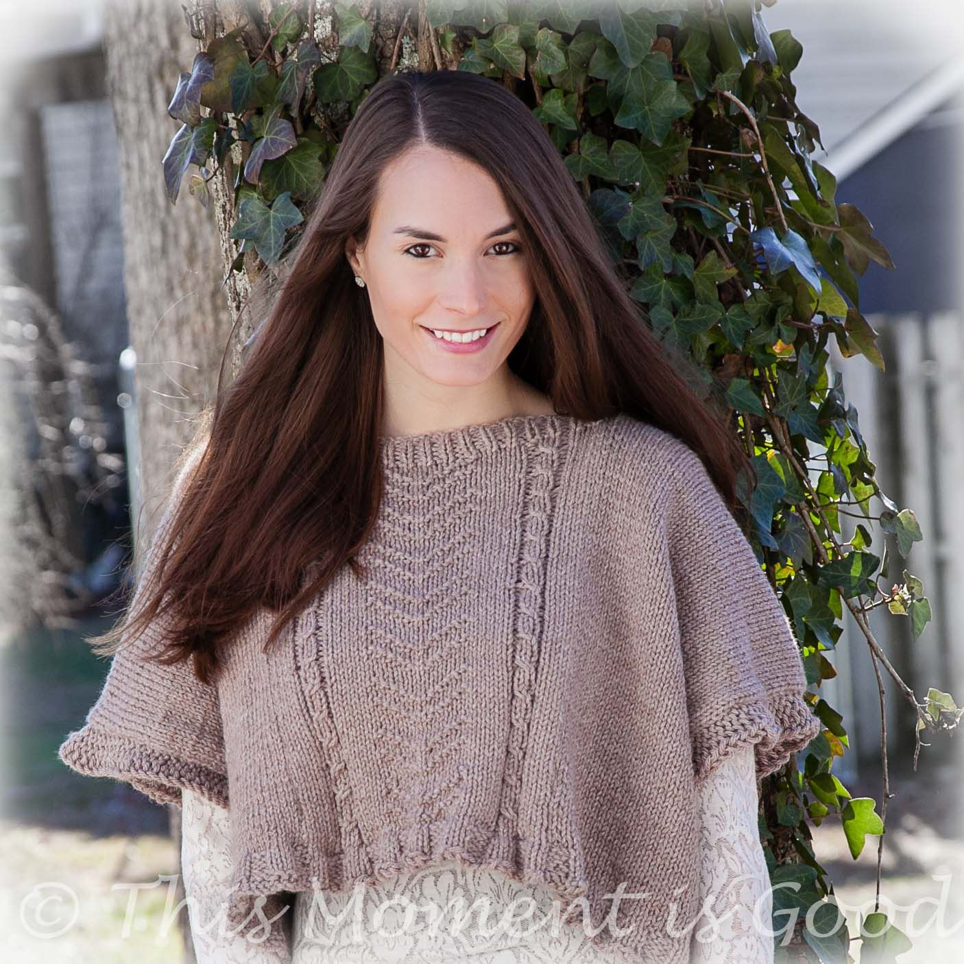 Loom Knit Poncho Pattern Loom Knit Ladies Poncho Topper Cape