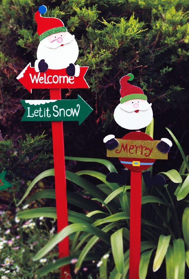 Letreros navideños para el jardín? ¡Los tenemos! #NavidadEasy - jardines navideos