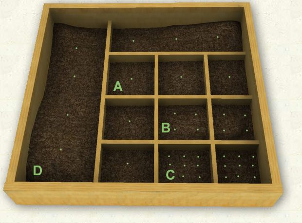 planning our square foot garden this shows three layouts and