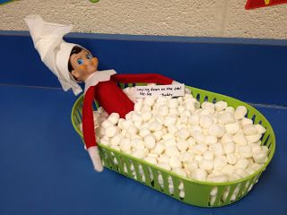Elf on the shelf in our classroom!