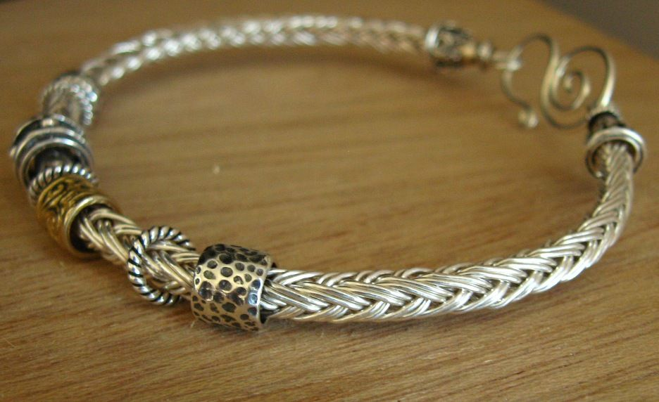 Knitting With Wire Tutorial : Janra jewelry silver and gold wire viking knitting weaving