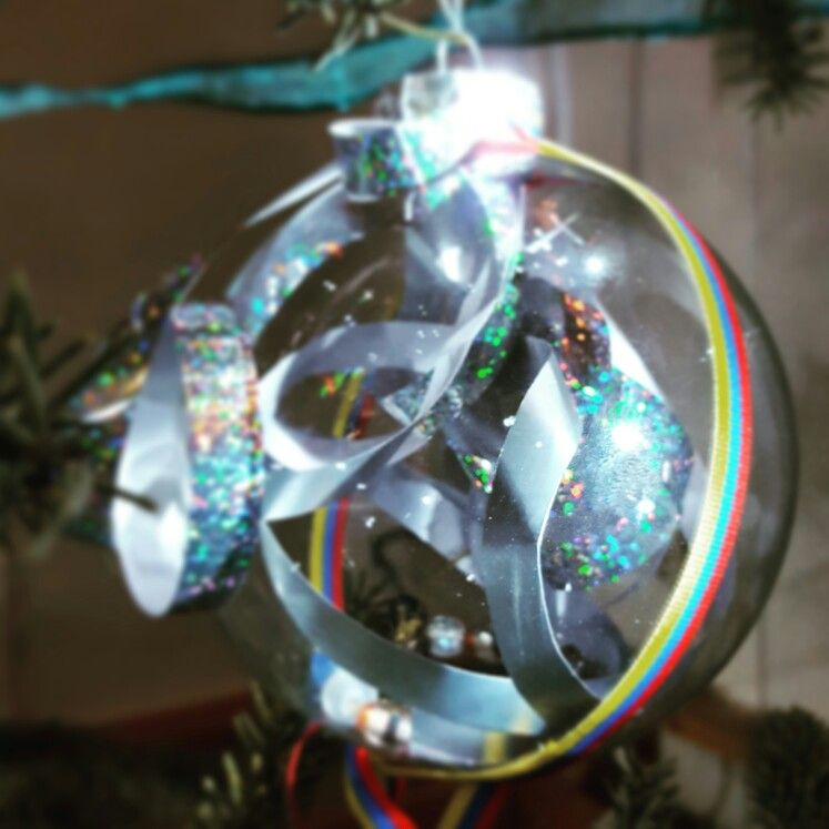 Customized Christmas tree ornaments #Christmas #DIY #candles #crafts
