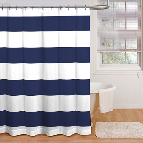 Refresh your bathroom with this bold cabana stripe shower curtain ...