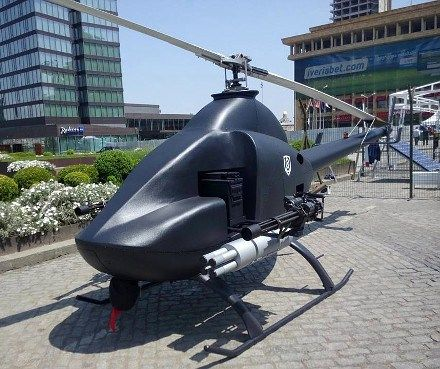 Georgian Unmanned Reconnaissance Helicopter Military