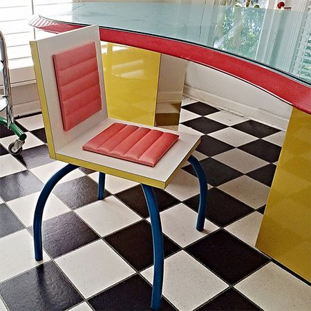 During The 1980s Memphis Milano Designed Furniture And Accessories In Vibrant Colours Bold Geometric Patterns