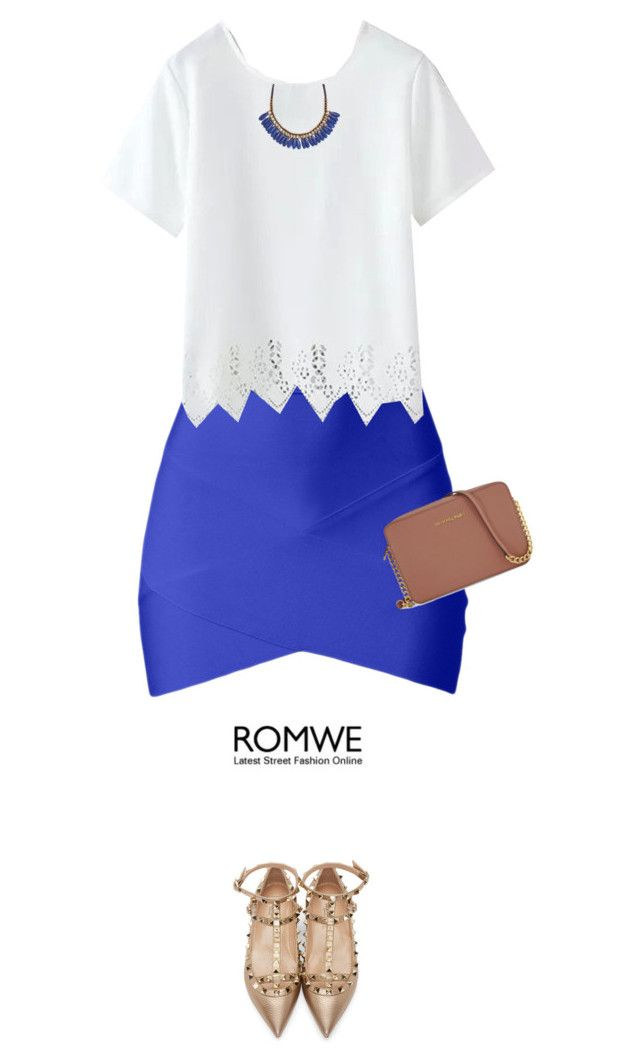 """romwe"" by mako87 ❤ liked on Polyvore featuring Valentino, Michael Kors and Roni Kantor"