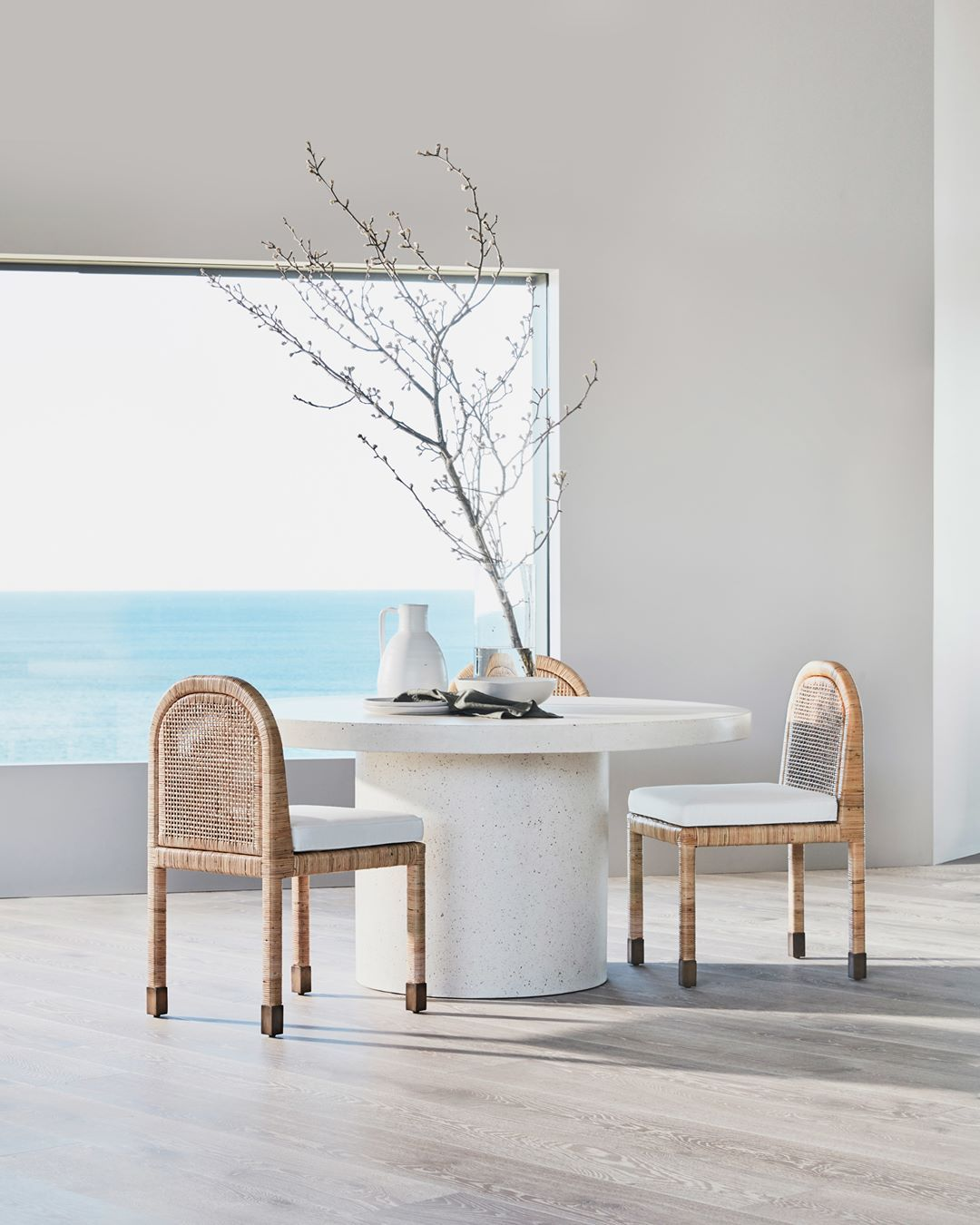 Tip Style The Colombo Dining Chair With The Regent Concrete Dining Table For A Striking Contemporary Dining Setting Cocorepublic I 2020
