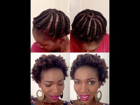 Flat Twist Out On Short Medium Length Natural 4c Hair Youtube