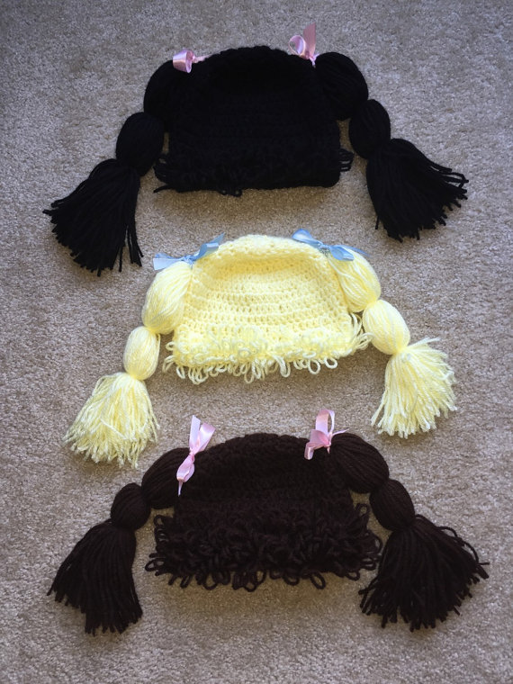 Crocheted Cabbage Patch Inspired Wig Hat by KeekasCreations | E ...