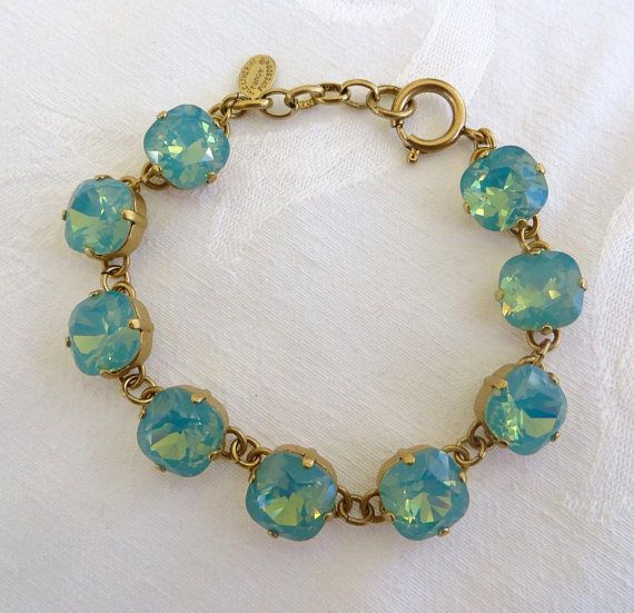Catherine Popesco Crystal Bracelet Pacific Opal Stones Designer