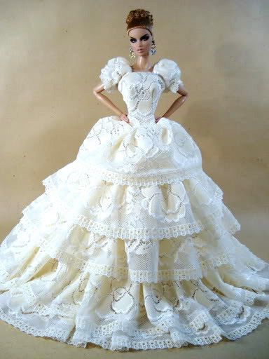 Wedding Bride Evening Gown Dress Outfit Silkstone Barbie Fashion Royalty Candi | eBay
