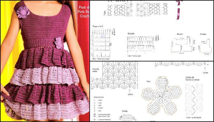 Resimli Anlatimla Kiz Cocugu Orgu Elbise Modelleri Vestidos Para Ninas Vestidos Patrones De Vestidos