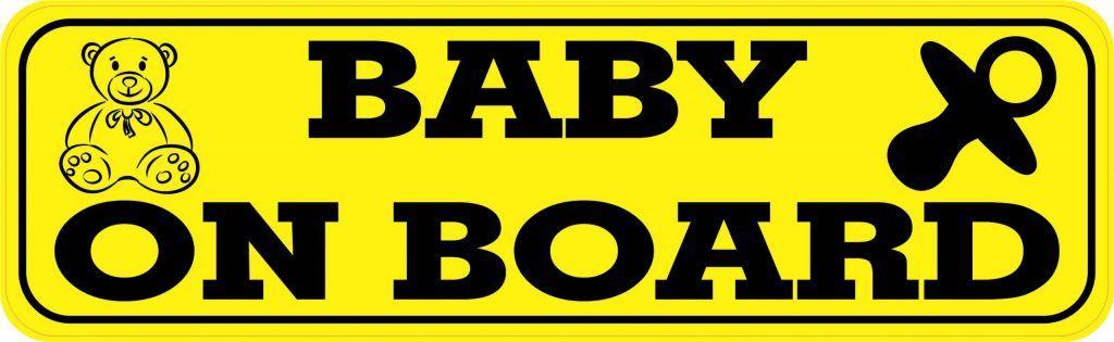 Stickertalk Baby On Board Magnet 10 Inches X 3 Inches Stickertalk In 2020 Vinyl Sticker Vinyl Black Letter