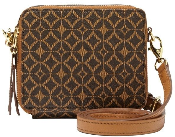$98, Fossil Sydney Mini Print Crossbody Bag. Sold by Nordstrom. Click for more info: https://lookastic.com/women/shop_items/24170/redirect