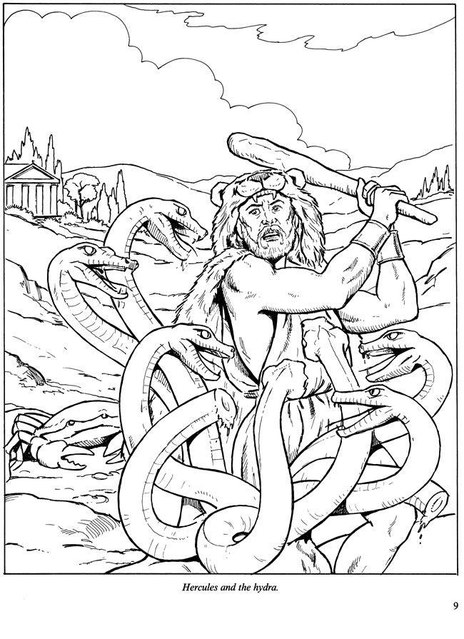 Adventures Of Hercules Coloring Book Dover Publications