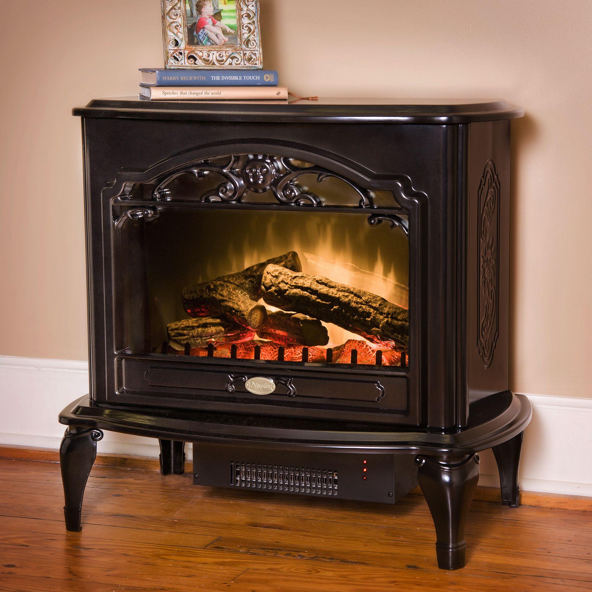 Celeste Freestanding Electric Stove In Black Tds8515tb Dimplex Electric Stove Black Electric Fireplace Free Standing Electric Fireplace
