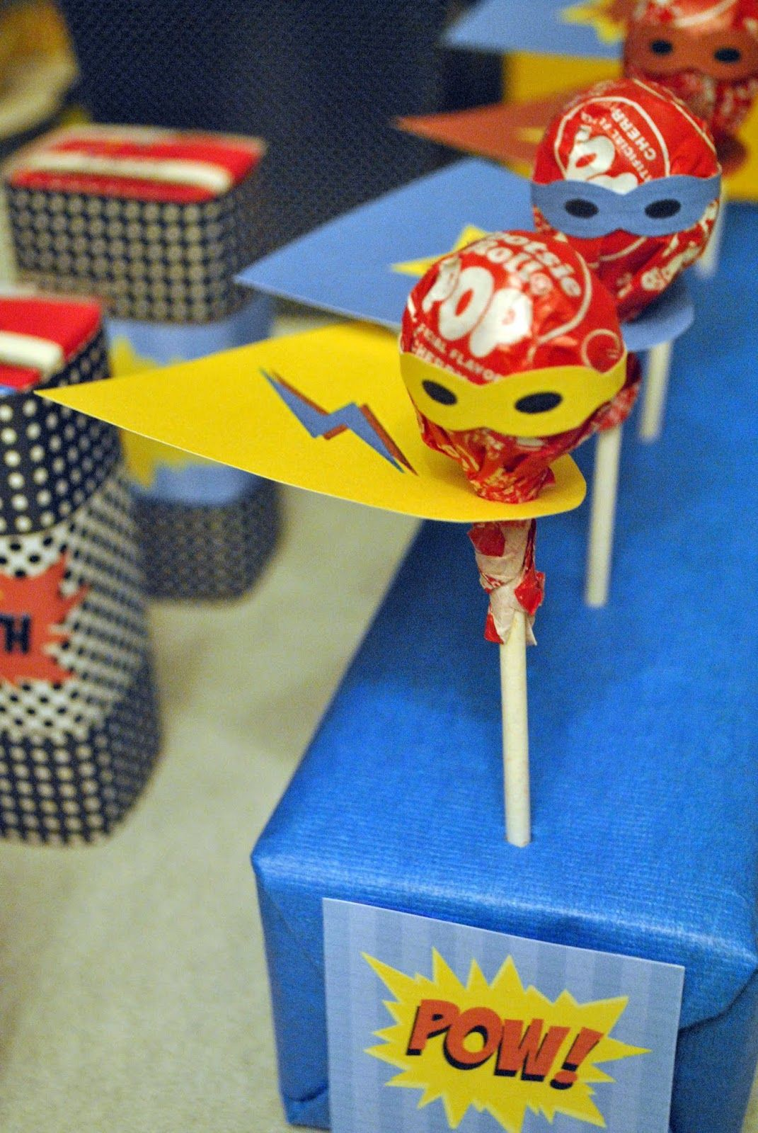 Superhero Treats For Kids Found These Cool Superhero Lollipop