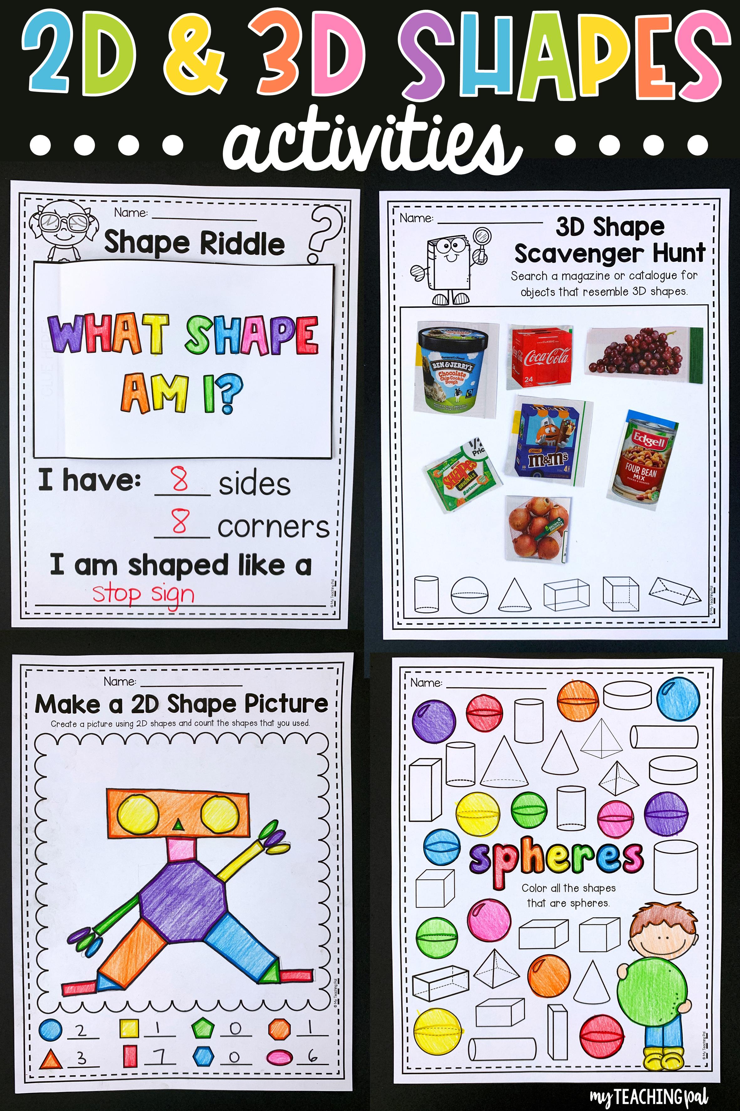 2d And 3d Shapes Worksheets Mega Pack 3d Shapes Worksheets 2d And 3d Shapes Shapes Worksheets [ 3543 x 2362 Pixel ]