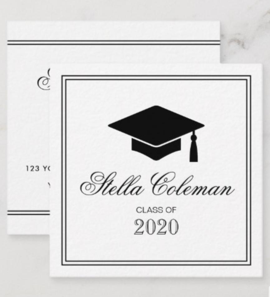 Elegant Graduate Graduation Name Card Zazzle Com Name Cards Standard Business Card Size Graduation