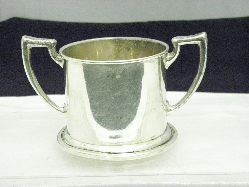 5a6f97bb421e Antique Saart Brothers Sterling Silver Child   Baby Cup with 2 Handles  Cr.1906…