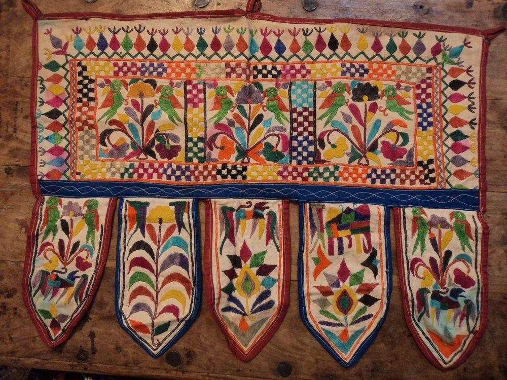 Ethnic Embroidery Doorway Hanging Patchwork Toran Door Old Topper Window Valance