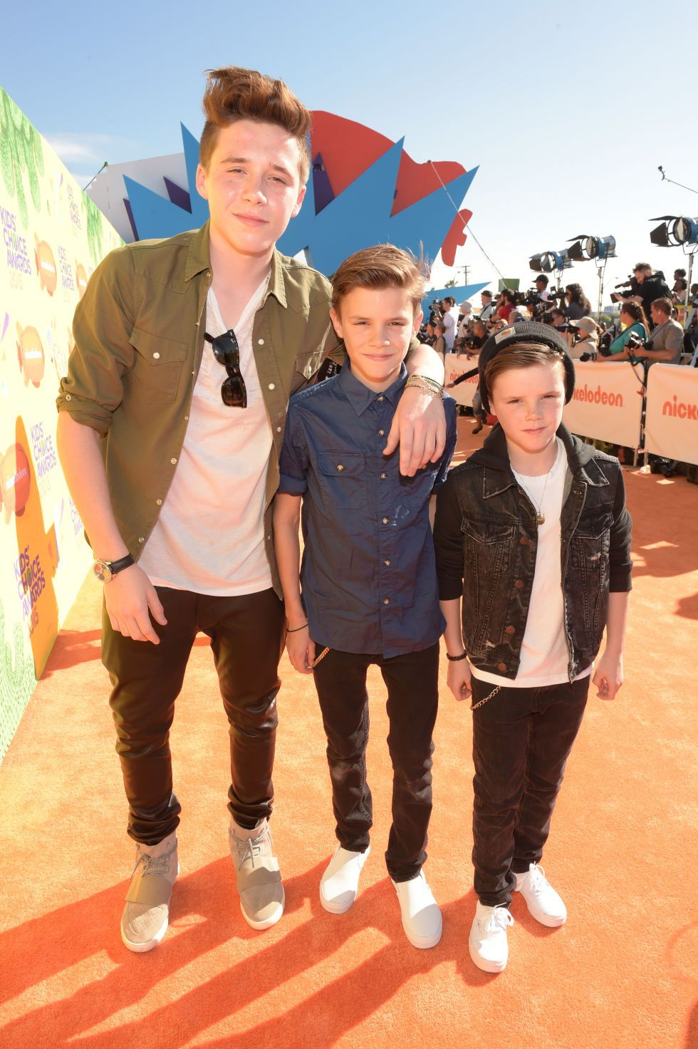 Guess where the Beckham boys went in this ensemble...