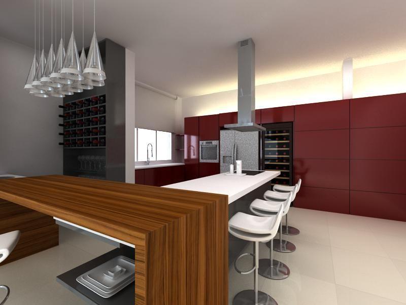 Best Kitchen Maroon And Grey Google Search Modern Kitchen 400 x 300