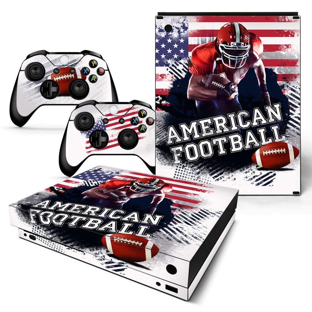 Xbox One X Console Skin Decal Sticker American Football 2 Controller Custom 743031186786 Ebay Xbox One American Football Xbox