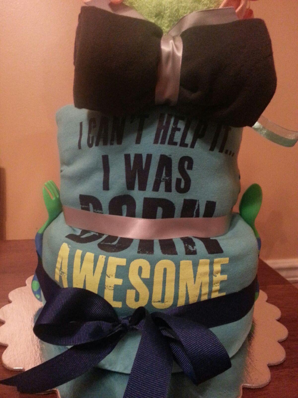 Back of Dr. Love Diaper Cake