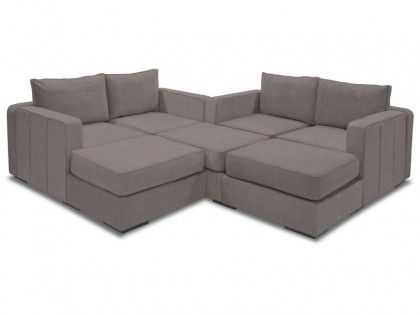 M Lounger with Taupe Rhinoplush Covers (7 Bases, 8 Sides)