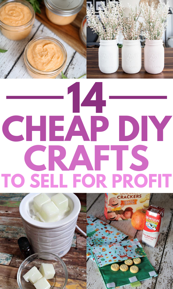 14 Cheap Homemade Crafts To Sell For A Profit #craftstosell