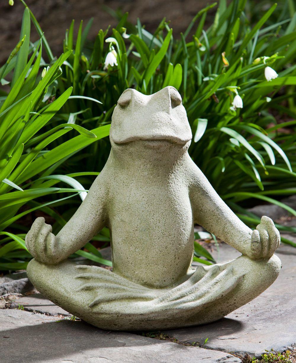Meditating Frog Stone Garden Statue Gartenskulpturen Statuen Und Frosche