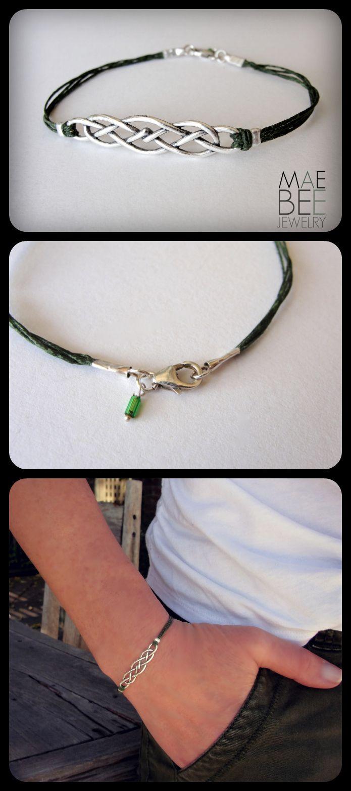 Celtic Knot bracelet, Outlander, Celtic jewelry, Scottish bracelet ...