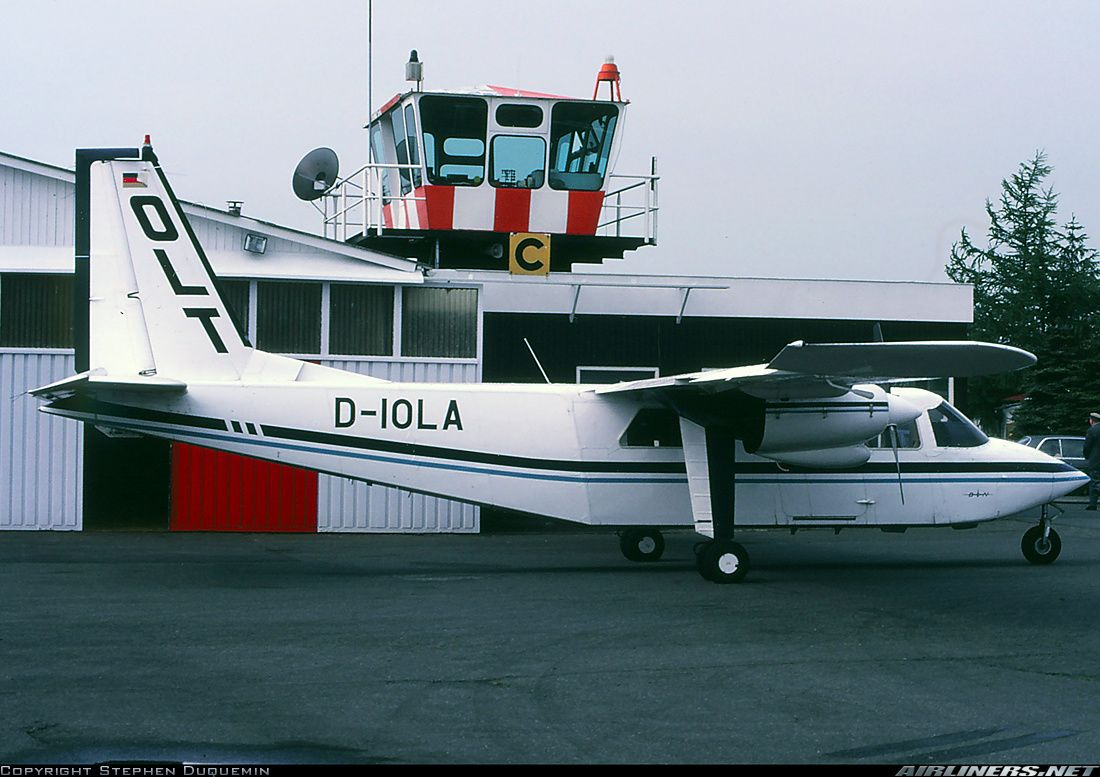 Britten norman as the company s official paint scheme design company - Britten Norman Bn 2b 26 Islander Aircraft Picture