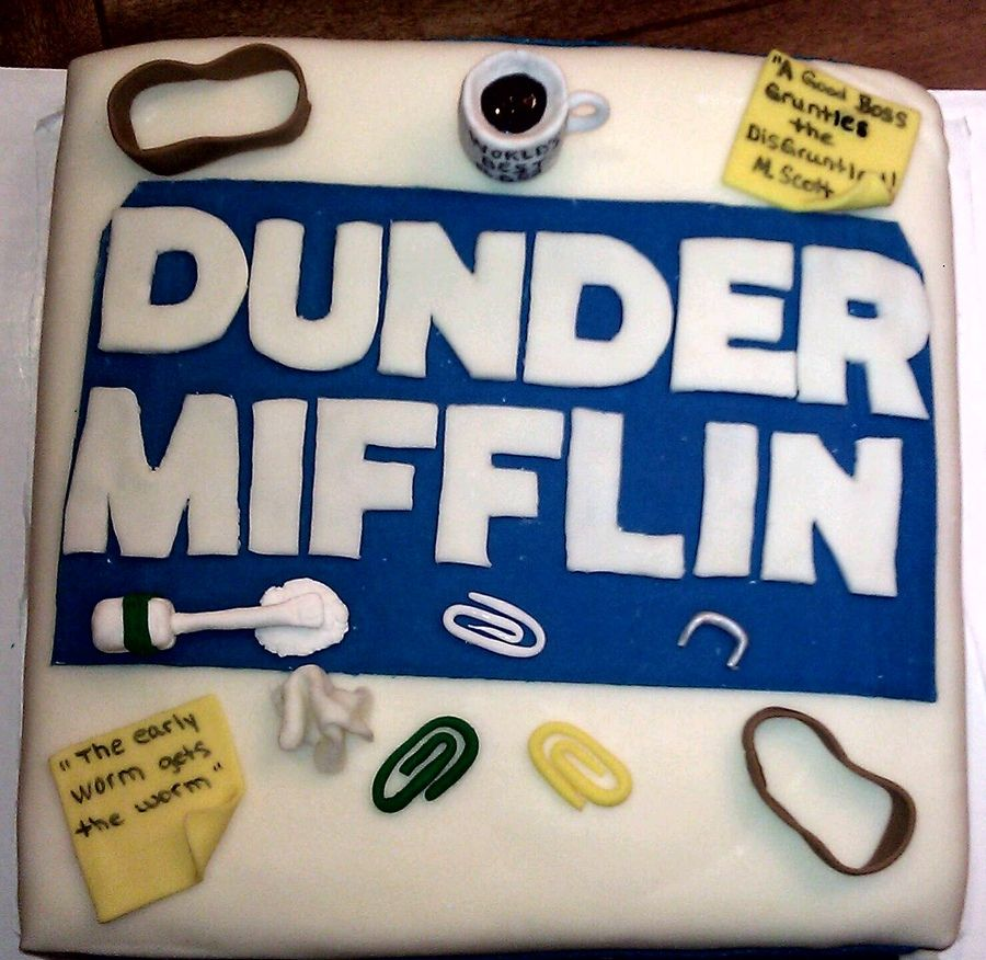 The Office Themed Birthday Cake Tv Movies Celebrity Eliass