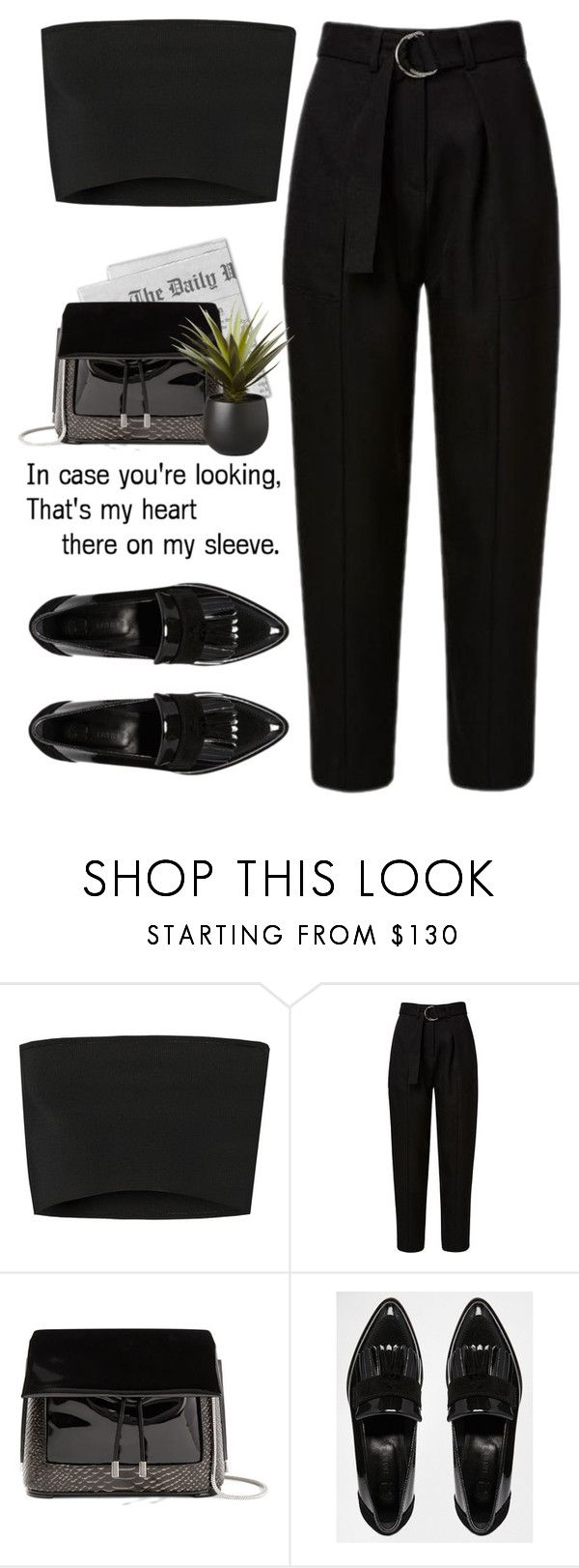 """- Lordly -"" by lolgenie ❤ liked on Polyvore featuring Calvin Klein Collection, 3.1 Phillip Lim, River Island and CB2"