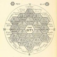 Hexagonal Map of London, 1895