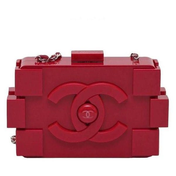 a48d4f0cb28d Chanel Lego Brick Bag Red Plexiglass ❤ liked on Polyvore featuring bags,  handbags, chanel