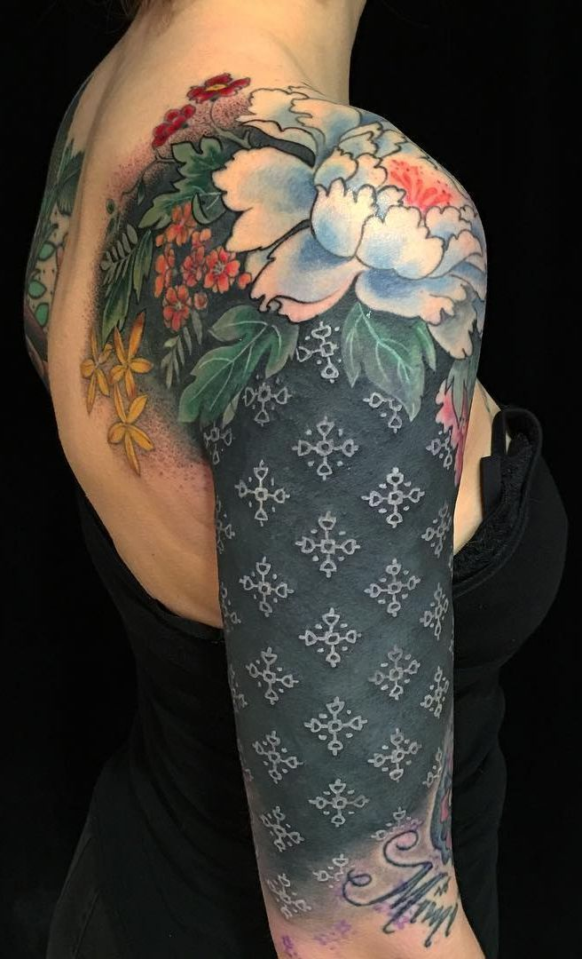 These Striking Solid Black Tattoos Will Make You Want To Go All In Skin Color Tattoos Blast Over Tattoo Ink Tattoo