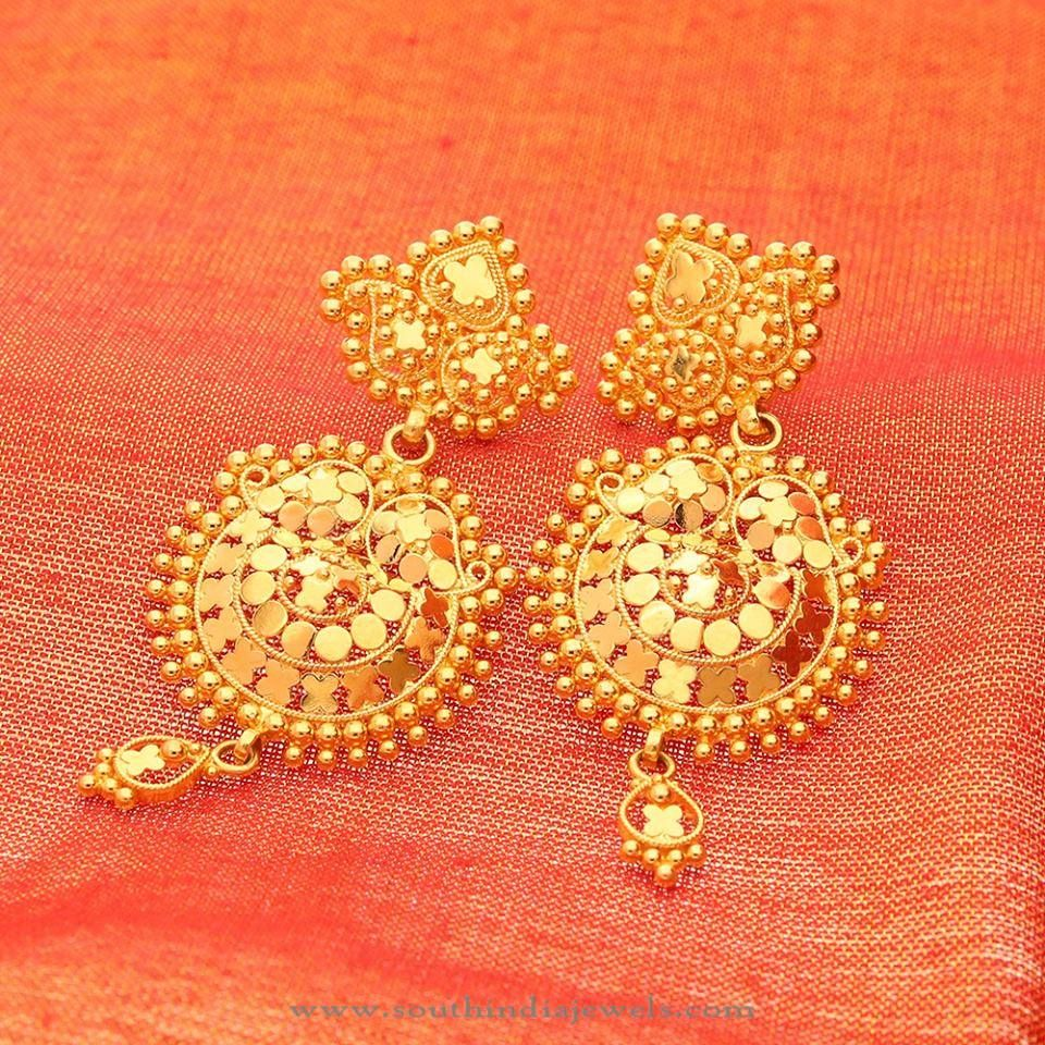 22k Gold Earrings Designs, Gold Earrings Collections, Gold Earrings Models
