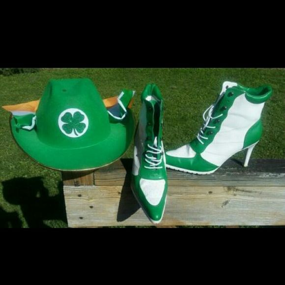ce9e0058a15cd St.Patrick s Day Hat Irish Flag Cowboy Hat ONLY! BOOTS SOLD This  ridiculously awesome