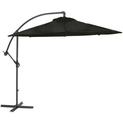 Home decorators collection 10 ft cantilever patio umbrella in black 8131400210 the home