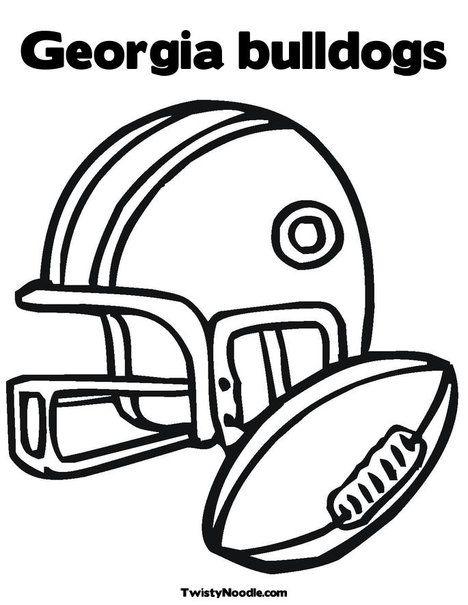 Georgia Bulldogs Helmet Coloring Pages Georgia Bulldogs Coloring