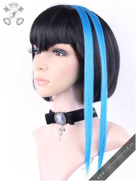 Clip-in turquoise blue hair extensions (pair)   Fantasmagoria.eu - Gothic Fashion boutique #pastel goth