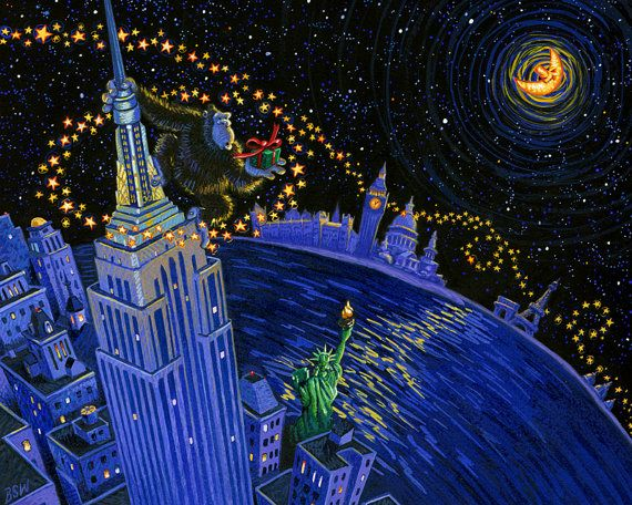 Kong Khristmas Giclee Print by StubbornPixelStudios on Etsy