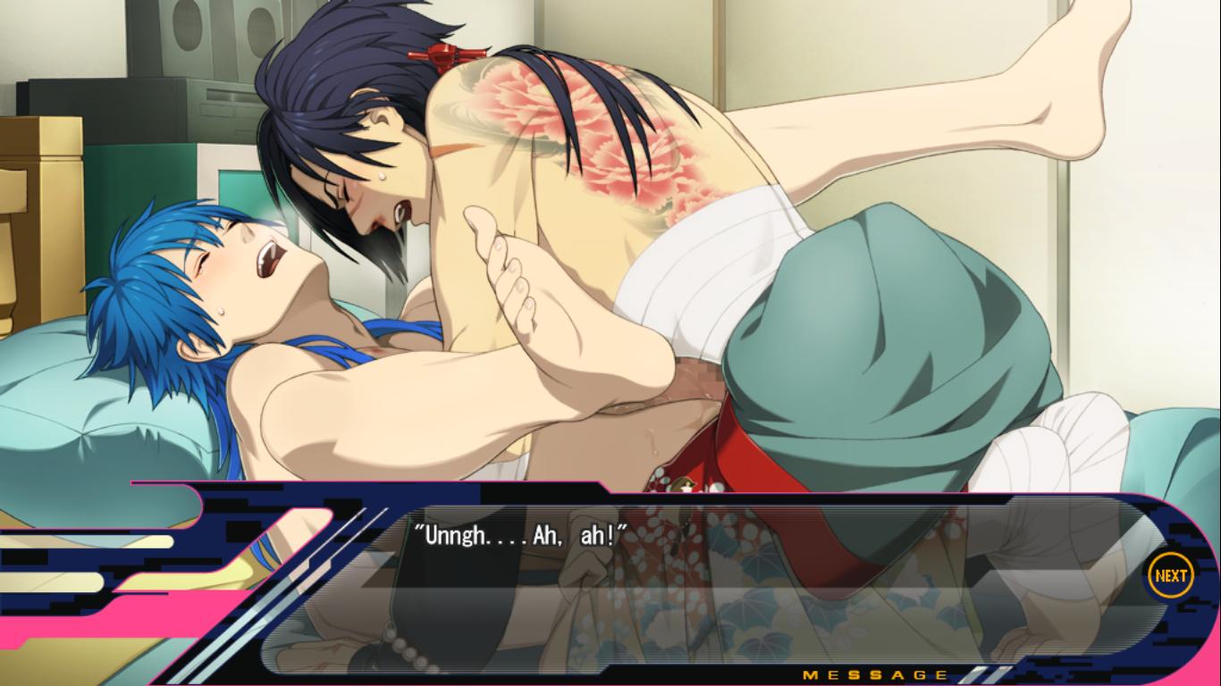 In their first time, Koujaku had a nosebleed lol