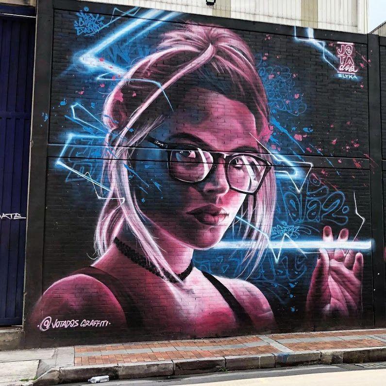 New Street Art By Jotados In Bogota Colombia Streetart Graffiti Mural
