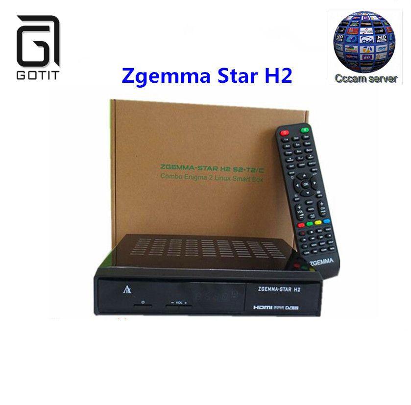 Zgemma Звезда H2 с DVB-S2 + T2/C Combo Enigma 2 ОС Linux