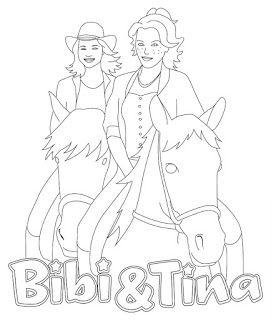bibi und tina ausmalbilder, zum ausmalen malvorlagen - #