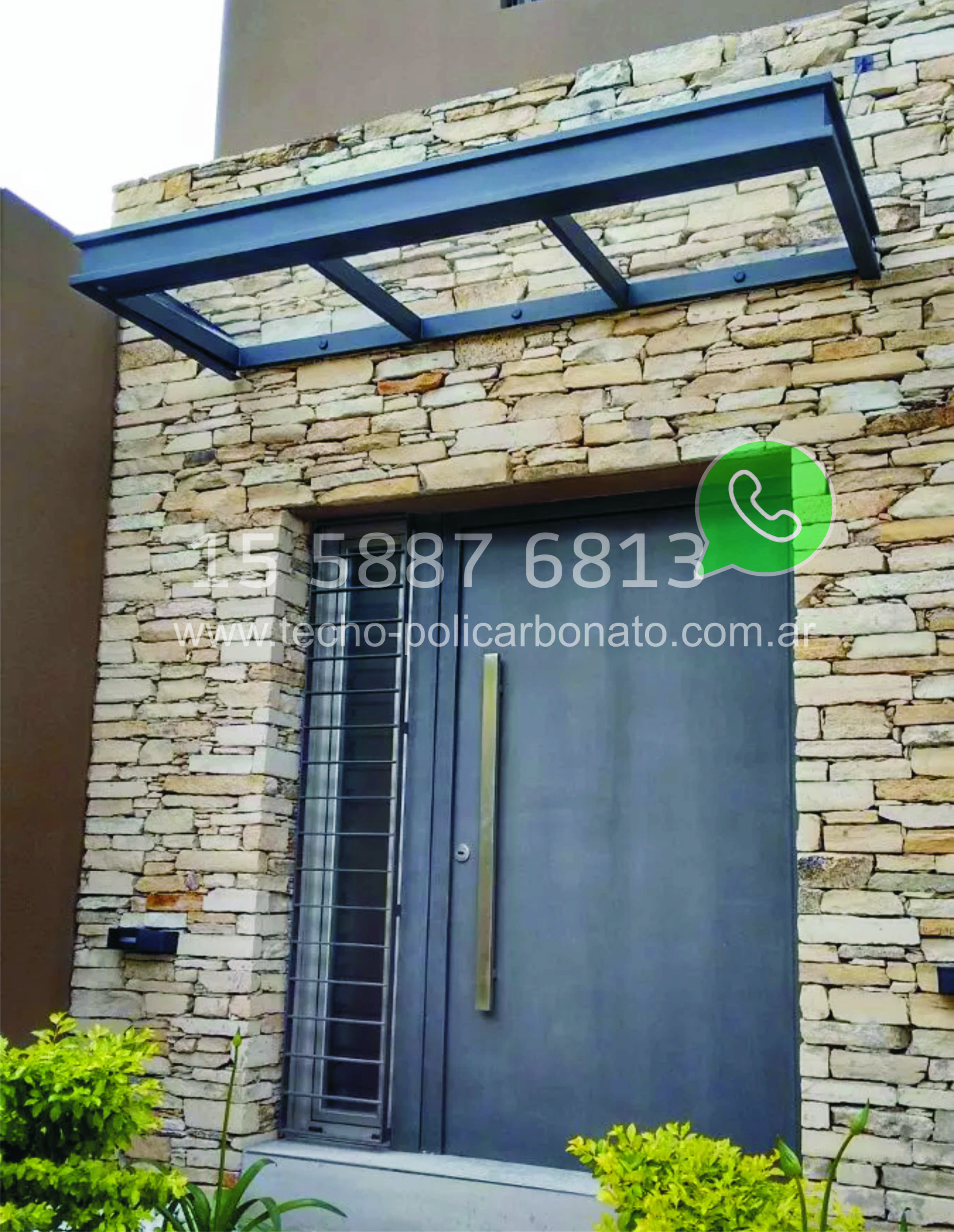 Aleros de policarbonato modelos de aleros para puertas y for Fabrica de ventanas de madera en buenos aires